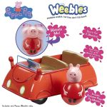 Peppa Pig PUSH ALONG WOBBILY CAR - Weebles - NEW